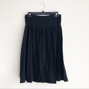 Lucky Brand Black Dungarees Everyday Skirt Sz M